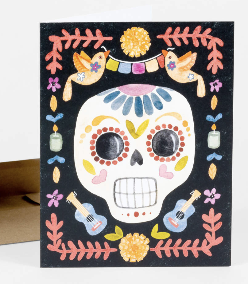 Day of the Dead, Blank Greeting Card