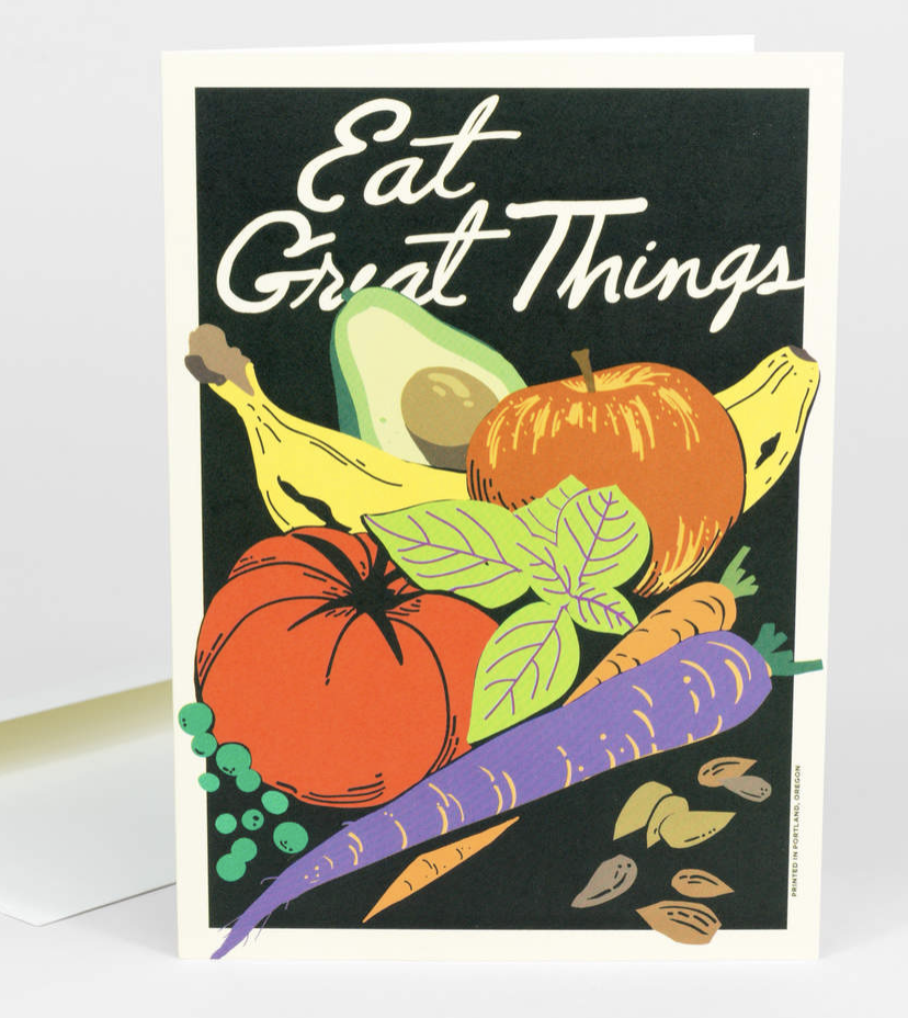 """Eat Great Things,"" Blank Greeting Card"