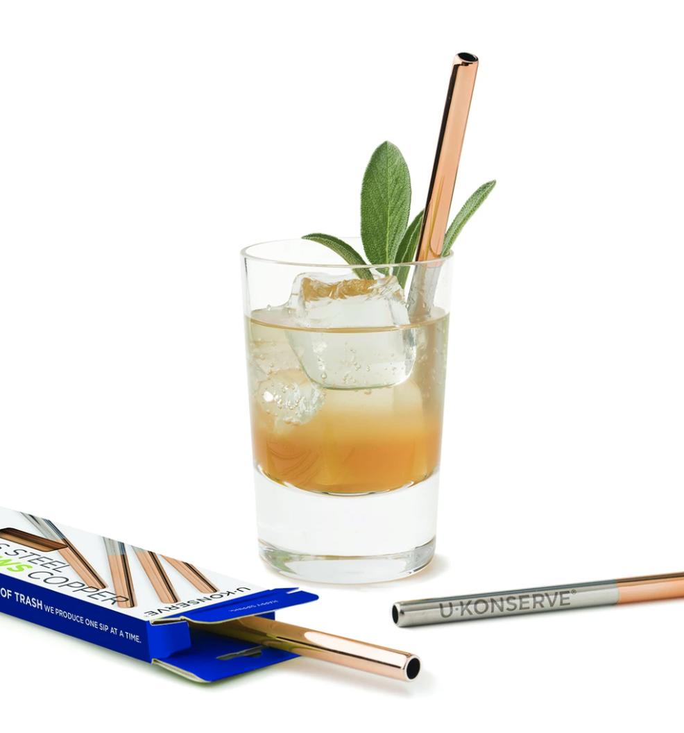 Stainless Steel Mini Straws, Set/4