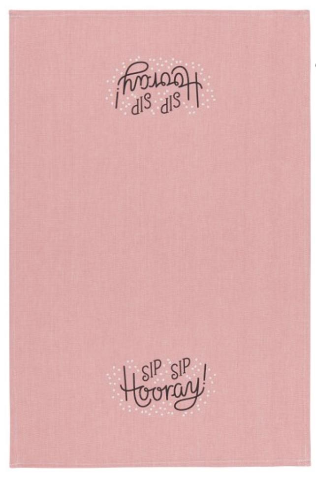 Sip Sip Hooray Cotton Chambray Tea Towel
