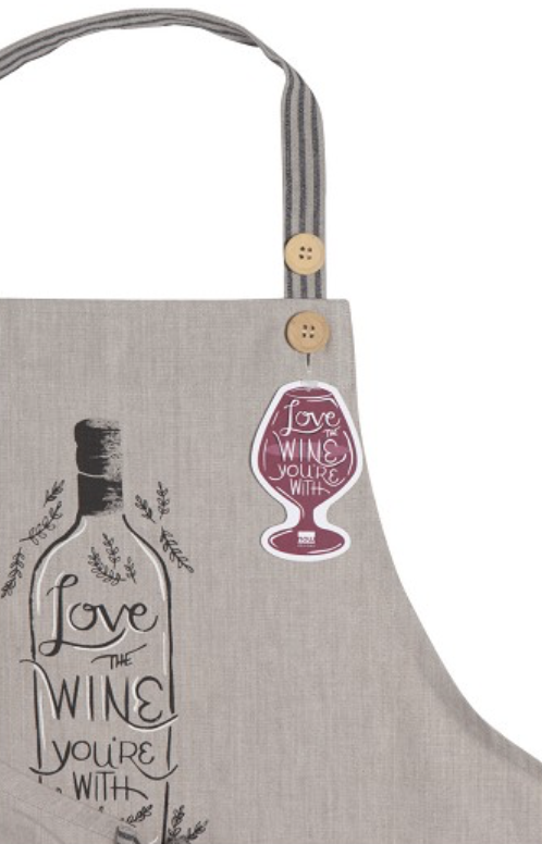 'Love the Wine You're With' Chambray Apron