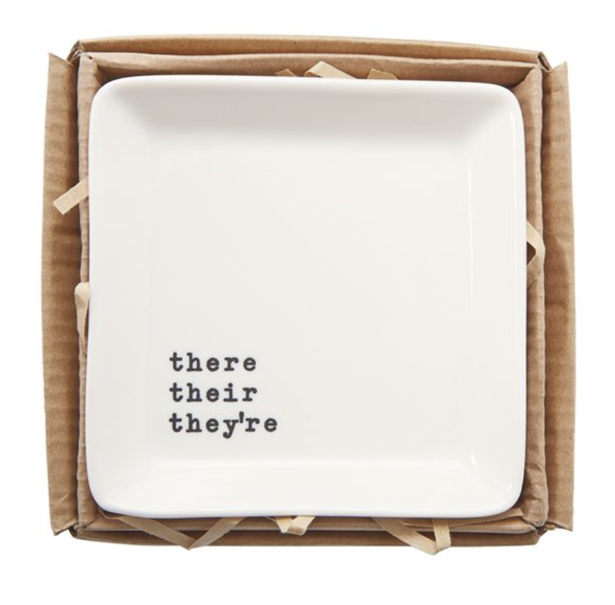 'there their they're' Trinket Tray