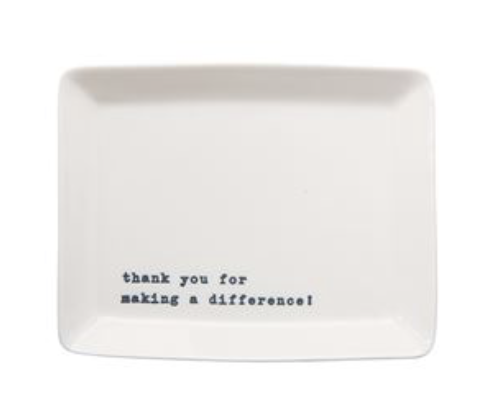 'Thank You for Making a Difference!' Trinket Tray