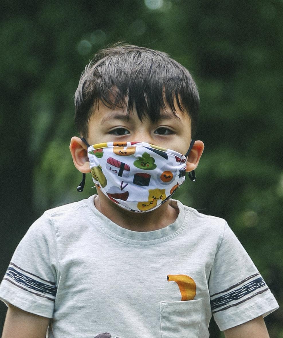Sushi Face Mask/Covering, Sushi, Kids