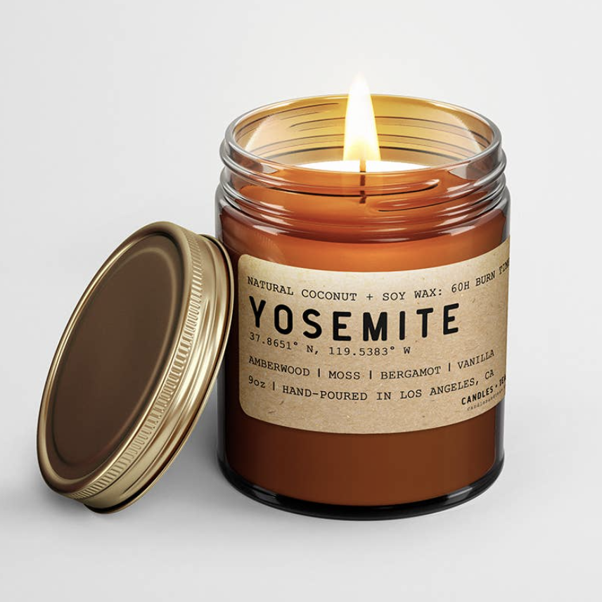 Yosemite: All Natural Coconut Soy Wax Candle