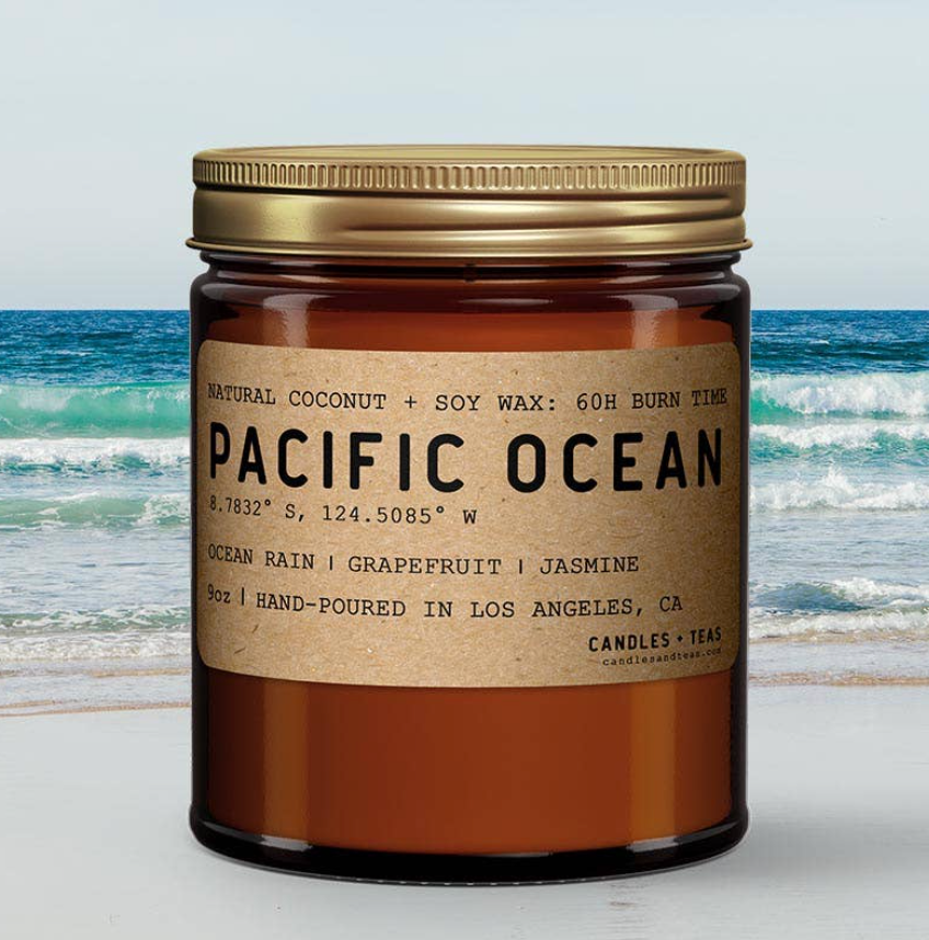 Pacific Ocean: All Natural Coconut Soy Wax Candle