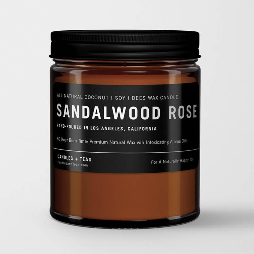 Sandalwood Rose: All Natural Coconut Soy Wax Candle