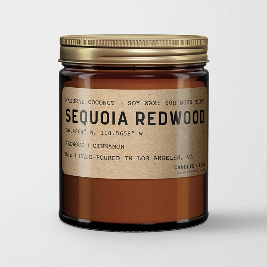Sequoia Redwood: All Natural Coconut Soy Wax Candle