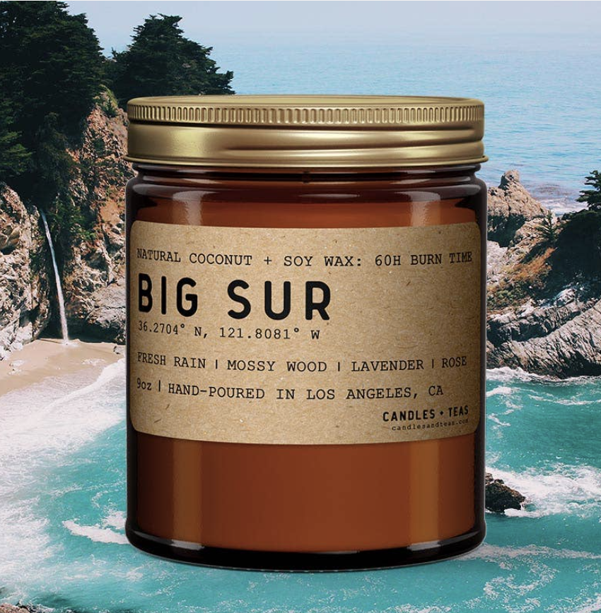 Big Sur: All Natural Coconut Soy Wax Candle