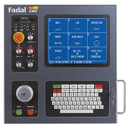 The pendant is the main interface to the Fadal CNC.