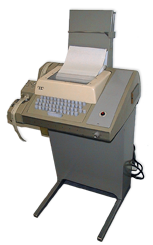 Image of the original Teletype used to interface to the control.