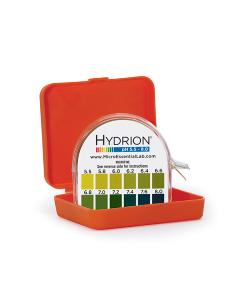 pH Test Paper 5.5 - 8.0 Hydrion Vivid Double Roll