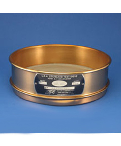 8in. #80 Brass Sieve SS Cloth Gilson Brass