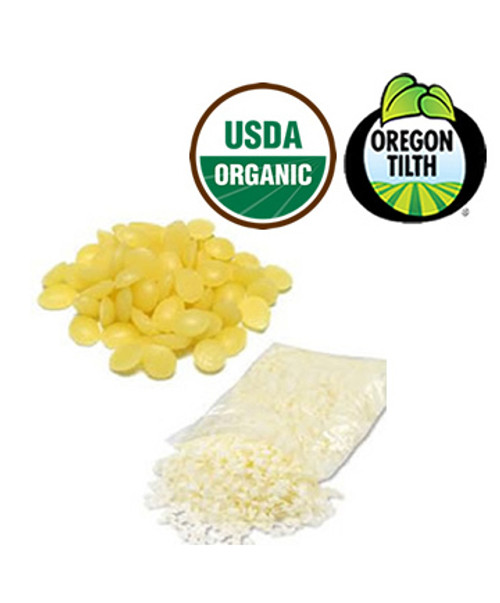 55lb Organic White Beeswax Granules / Pearls