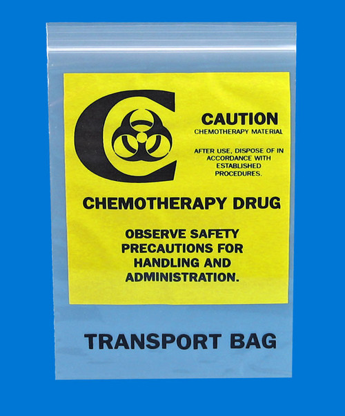 Resealable Chemotherapy Transport Bags