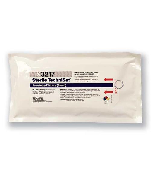 TechniSat® TX3214 Wet Nonwoven Cleanroom Wipes (Sterile)