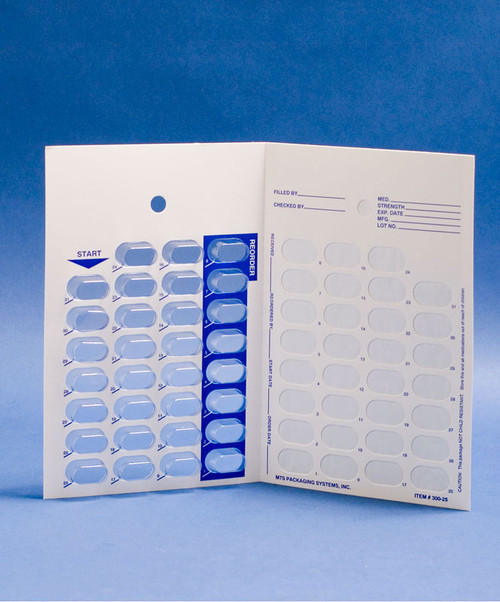 One-Piece Heat-Seal Medication Cards with Blisters