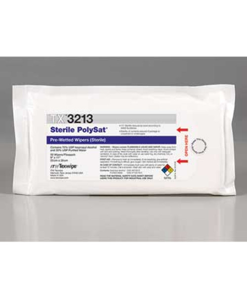 PolySat® TX3213 Wet Cleanroom Wipes (Sterile)