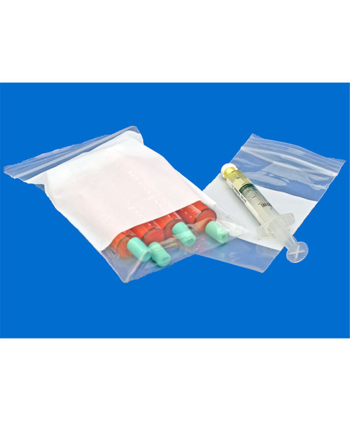 Write-On Block Resealable Bags