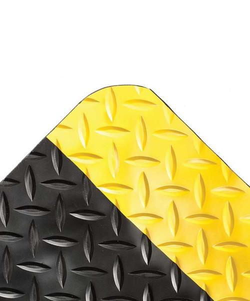 """Black & Yellow UltraSoft Diamond-Plate Beveled Mat, 15/16"""""""