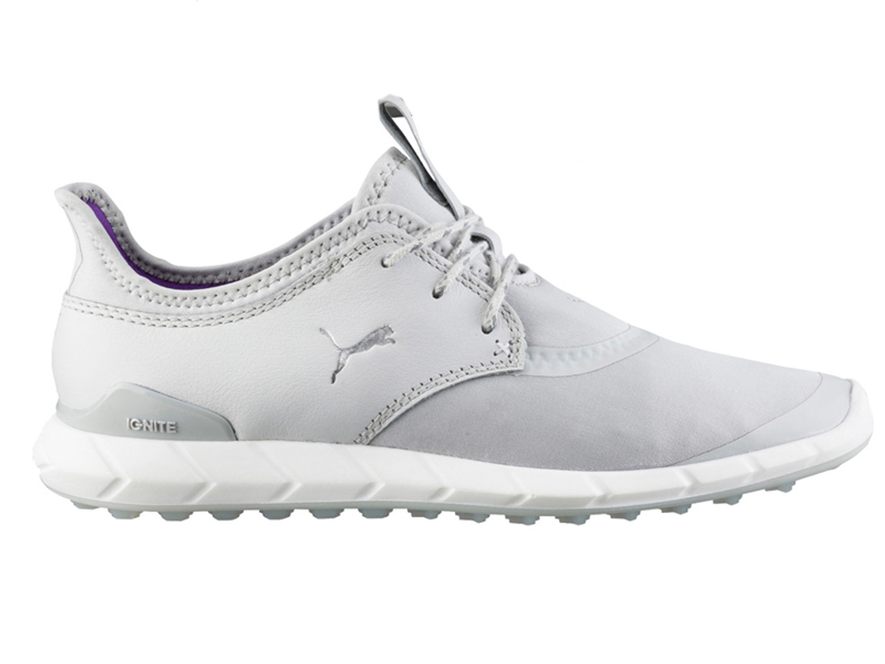 Puma Ladies Ignite Spikeless Sport Golf Shoes Grey Violet