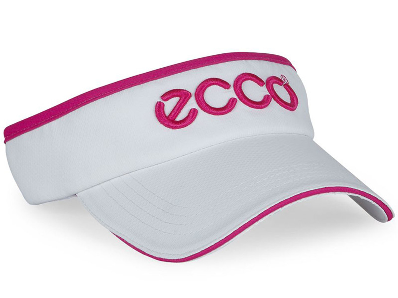 4929924a8ea9fa Ecco Ladies Golf Visor - White/Candy - Ladies - Polyester For Sale ...