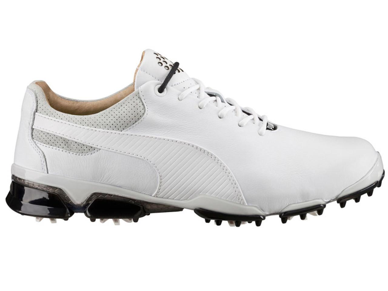 tilata jaloissa laajat lajikkeet Puma Titan Tour Ignite Premium Golf Shoes - White