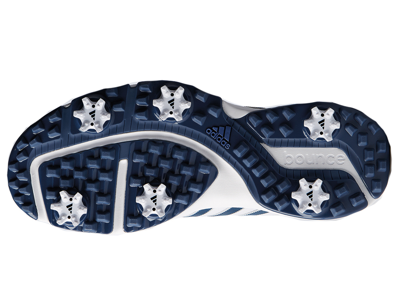 5bb96ea27 Adidas 360 Bounce Golf Shoes - FWTR White Noble Indigo - Mens For ...