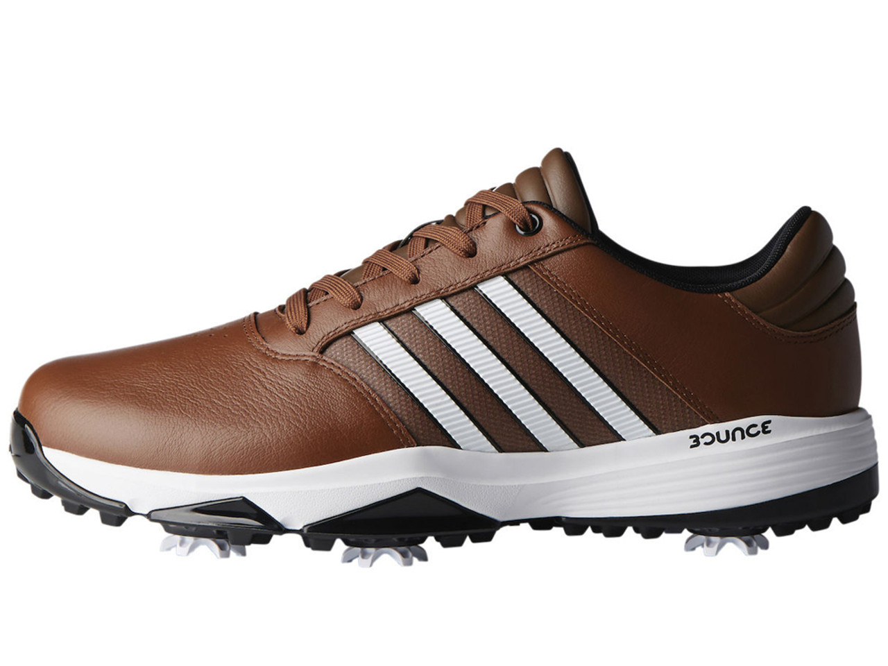 606fe41e450625 Adidas 360 Bounce Golf Shoes - Tan Brown FWTR White Black - Mens For ...