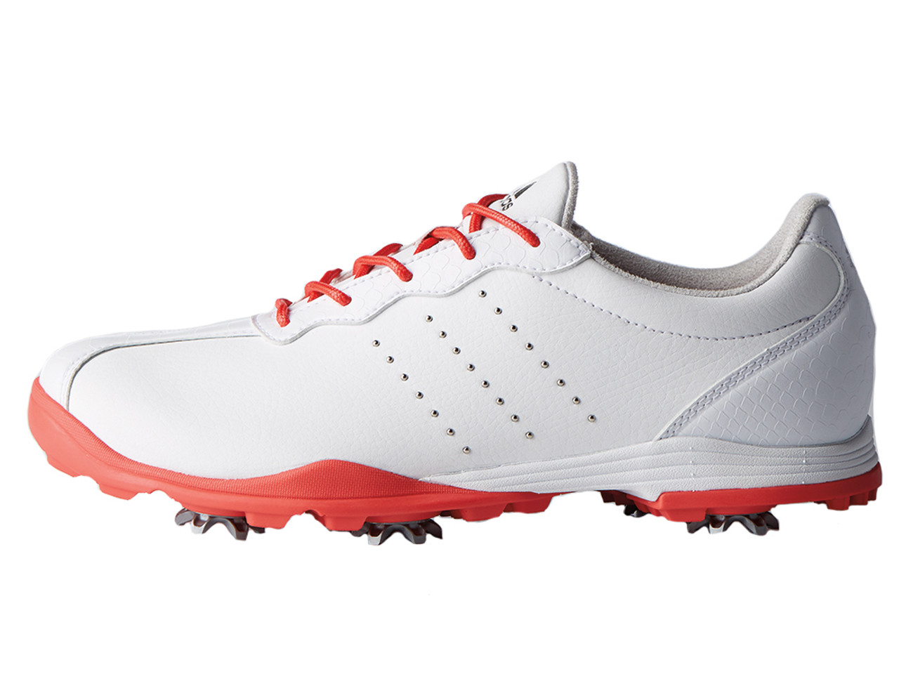 sports shoes 00784 eea65 Adidas W Adipure DC Golf Shoes - FTWR WhiteReal Coral - Ladi