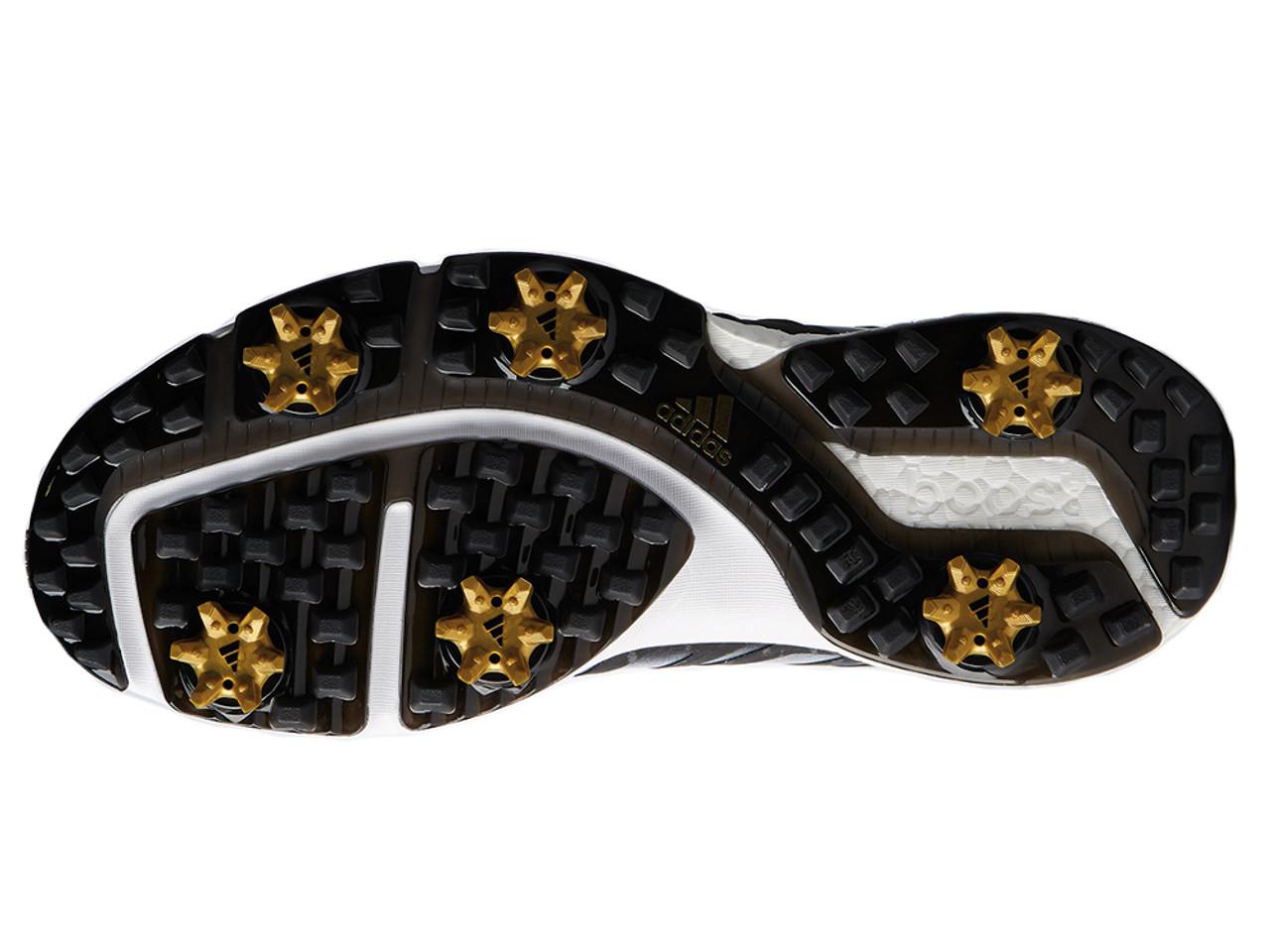 wholesale dealer 99157 7c53c Adidas Powerband BOA Boost Golf Shoes - Core BlackGold Met.