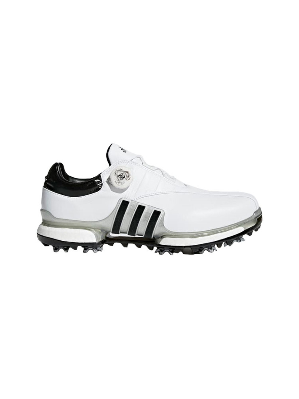 35cb6eb008b9 Adidas Tour360 Boost EQT BOA Golf Shoes - White Silver Black - Mens ...