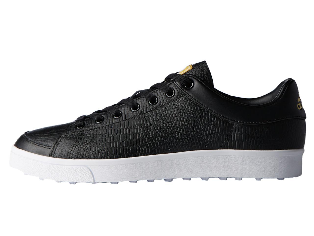 Presunción prometedor construir  Adidas Adicross Classic Golf Shoes - Core Black/FTWR White - Mens ...