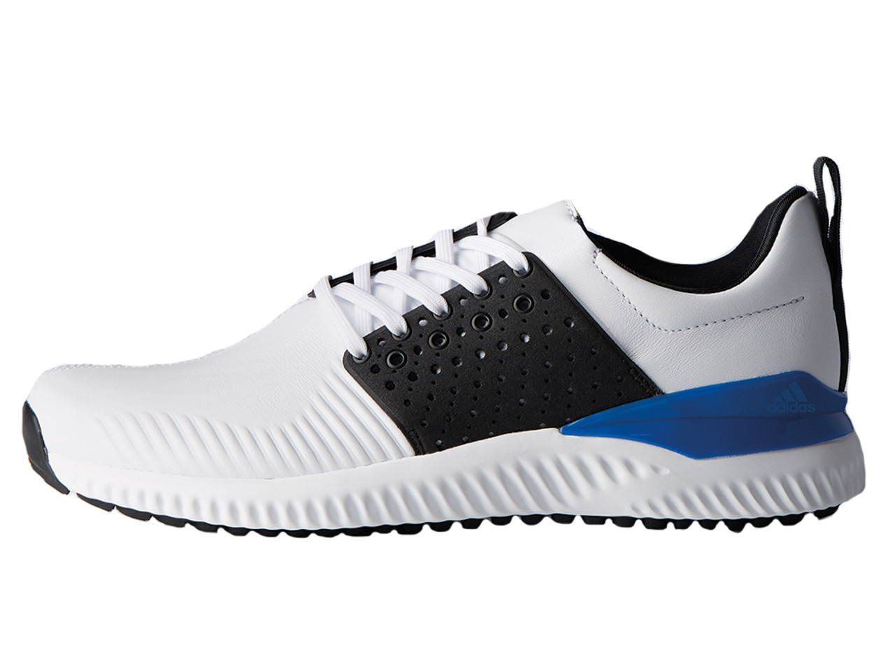 yeso Respetuoso persecucion  Adidas Adicross Bounce Leather Golf Shoes - White/Black/Blue - Mens |  GolfBox
