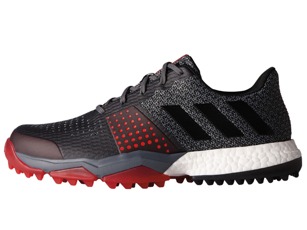 6e9219503b98 Adidas Adipower S Boost 3 Golf Shoes - Onix C Black Scarlet - Mens ...