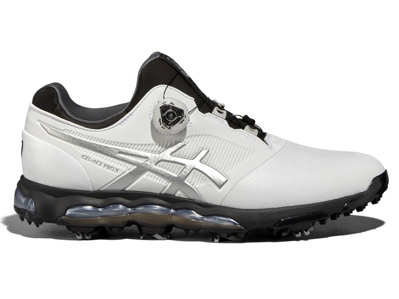 revendeur 481d4 72ff8 Asics Gel Ace Pro X BOA Golf Shoes - White/Black/Silver
