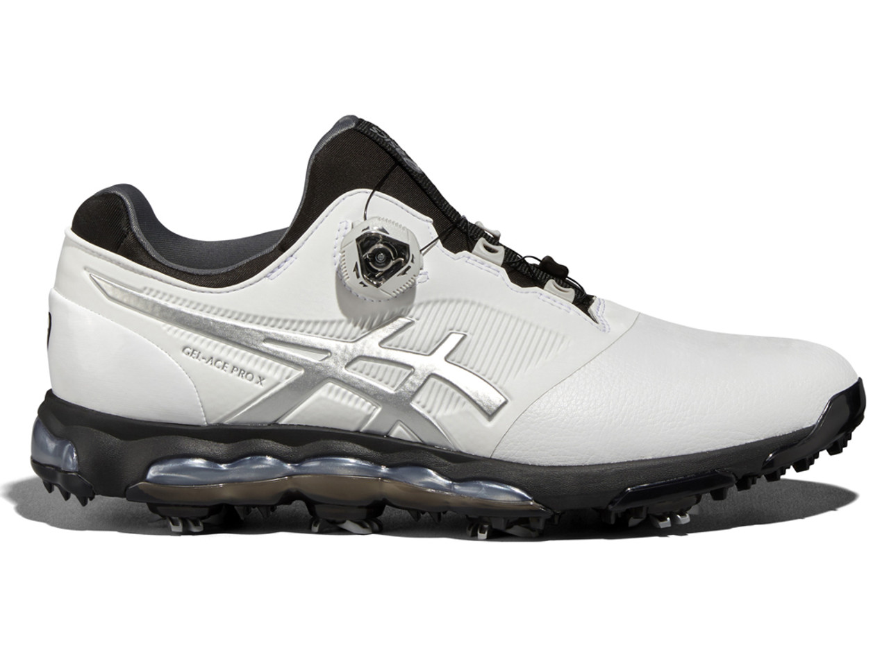 1123c48249d5 Asics Gel Ace Pro X BOA Golf Shoes - White Black Silver - Mens For ...