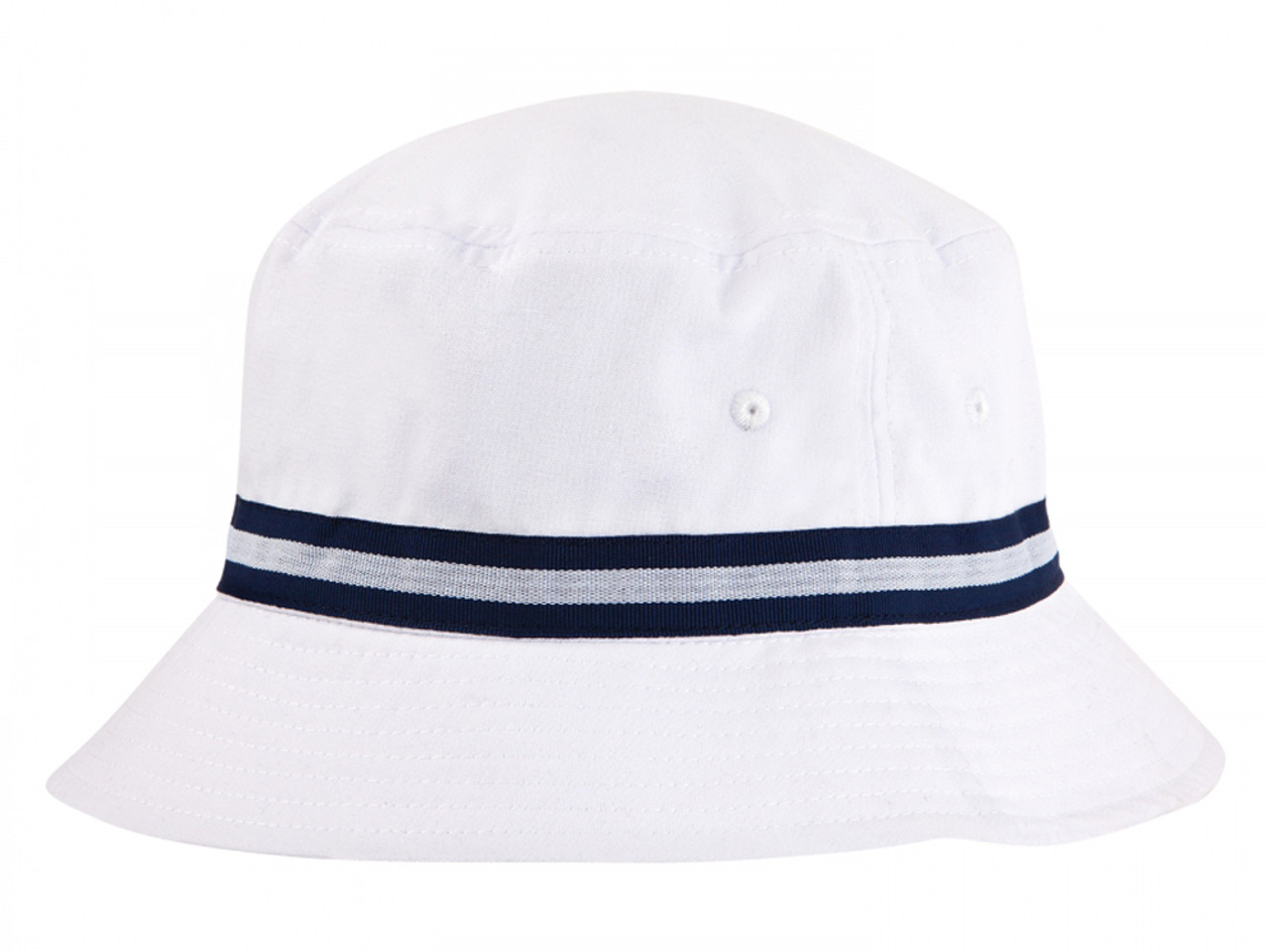 eec1780fe31 Sporte Leisure Stripe Band Bucket Hat - White French Navy - Mens For ...
