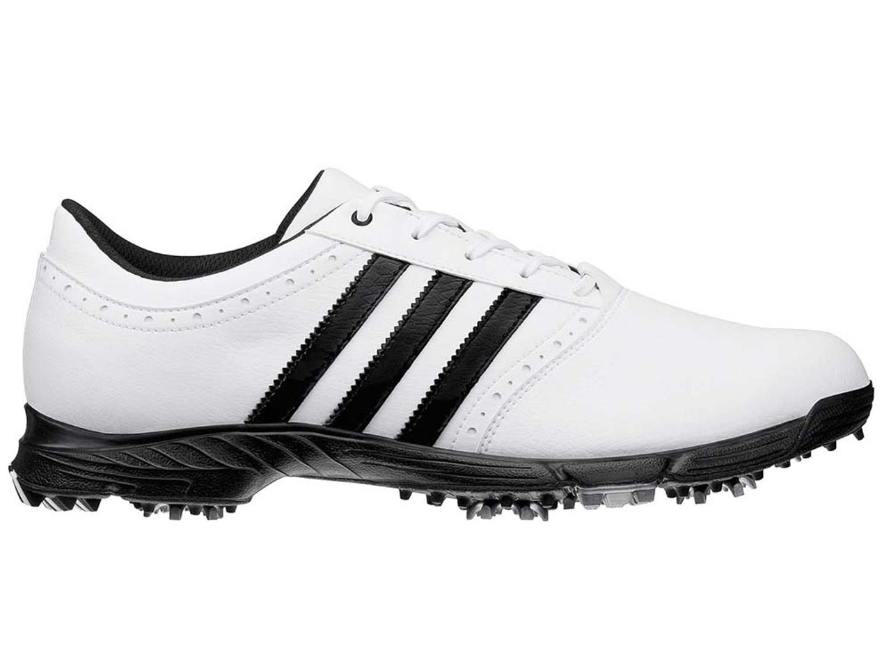 d0a329469b9d Adidas Traxion Classic Golf Shoes - White Black - Mens For Sale ...