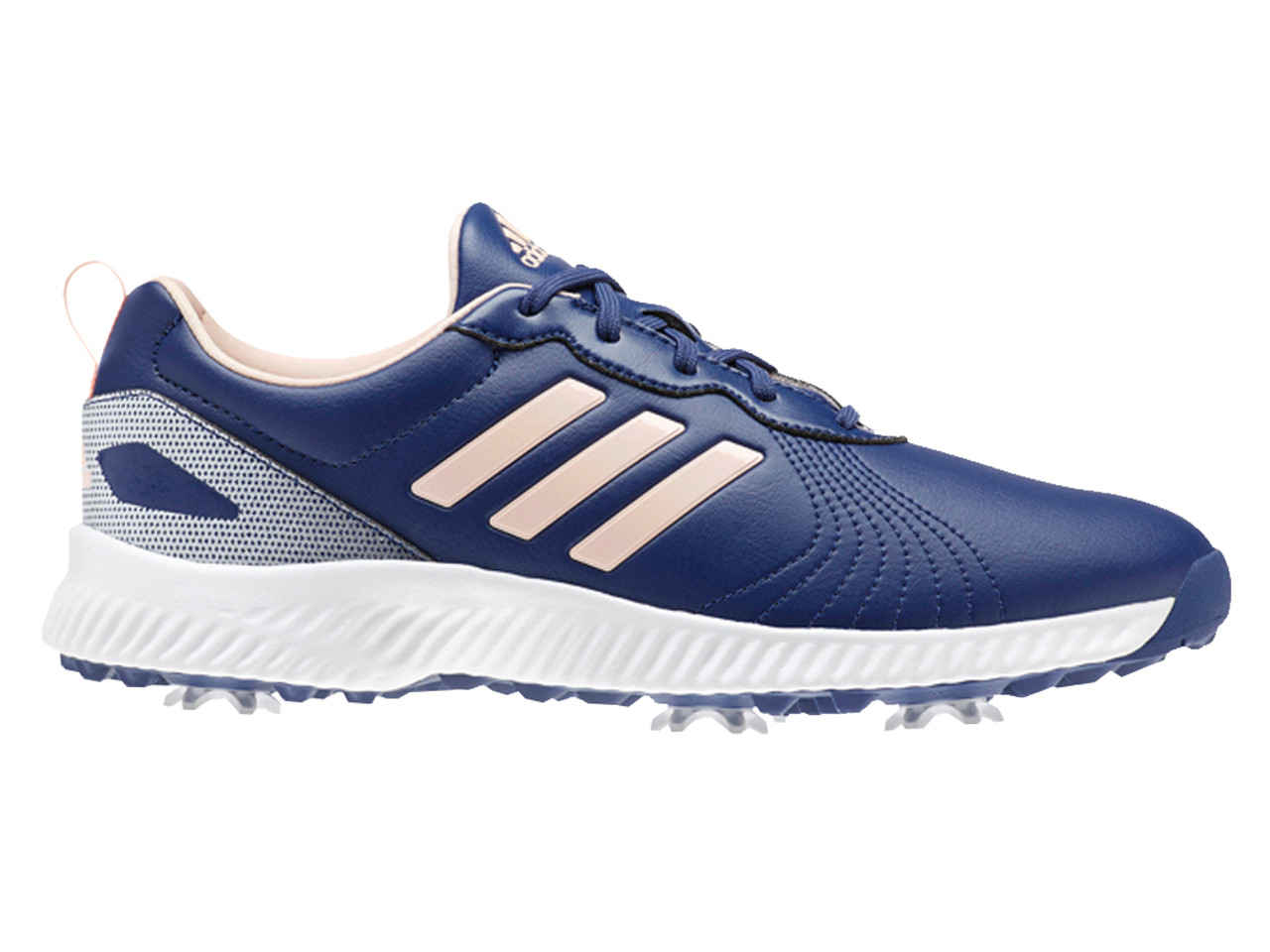 fca1e5641 Adidas Ladies Response Bounce Golf Shoes - Navy Clear Orange. Adidas