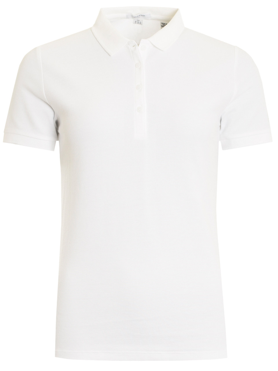 725540b1f76ee Calvin Klein Ladies Cotton Blend Polo - White - Ladies For Sale ...