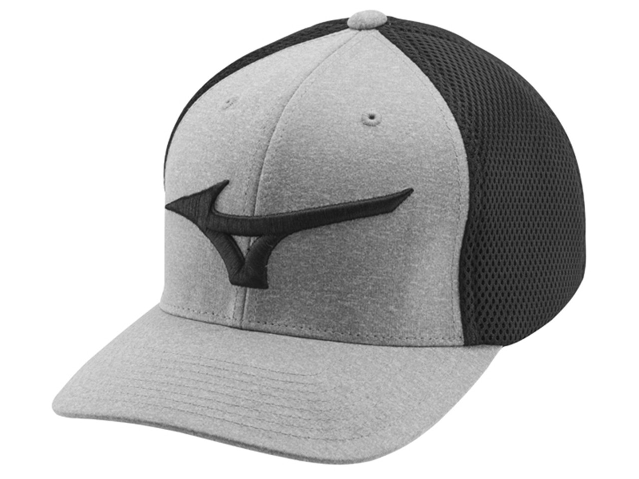 df30b1978fa Mizuno Fitted Meshback Cap - Black - Mens - Polyester For Sale