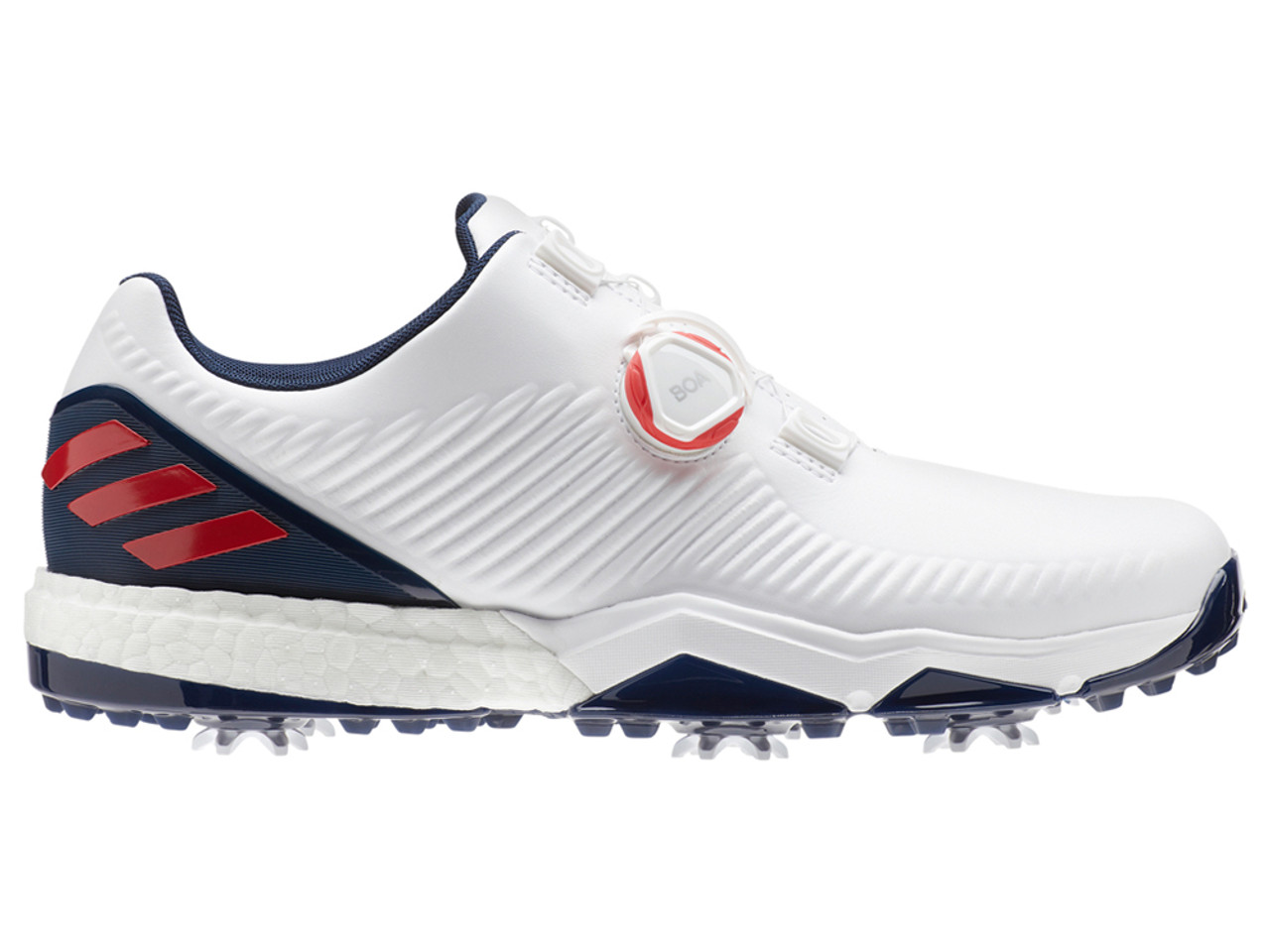 detailed look 1a1ad 82f37 Adidas Adipower 4orged BOA Golf Shoes - FTWR WhiteColl Navy
