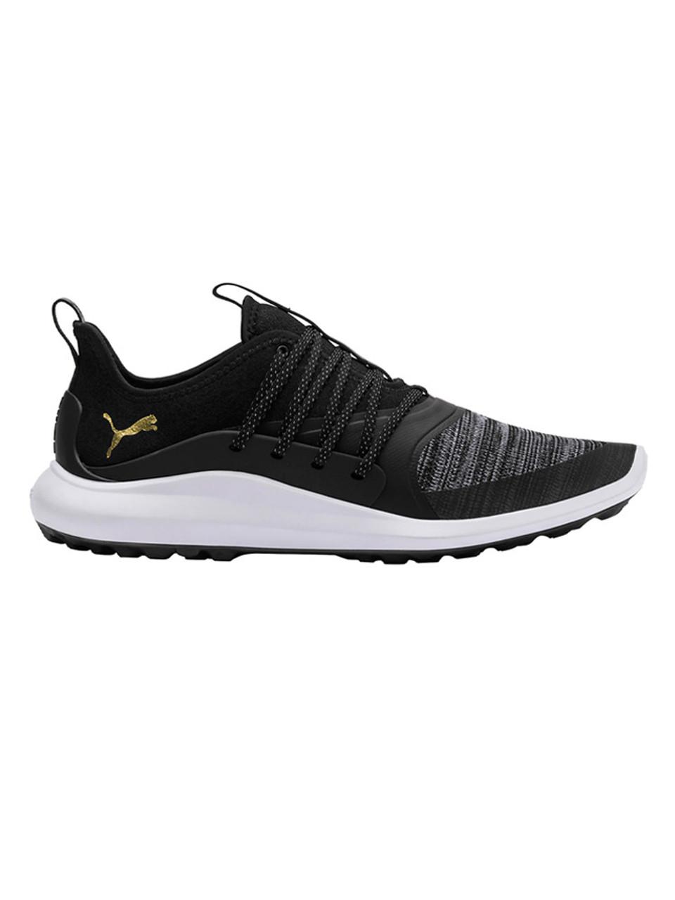 31b0f9ba0d0e Puma Ignite NXT Solelace Golf Shoes - Black Team Gold - Mens For ...