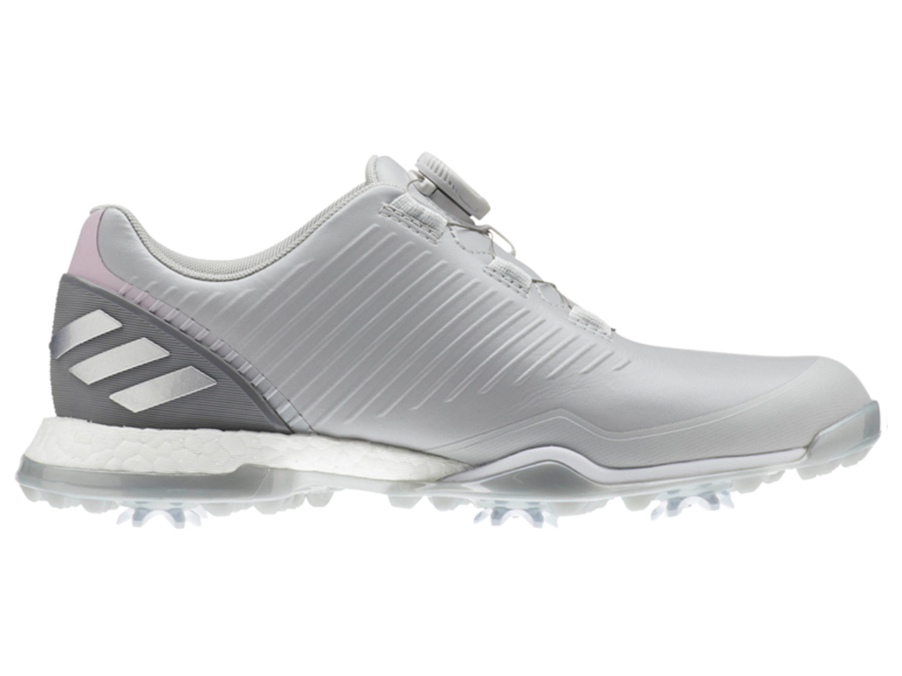 low priced 96fe1 ec224 Adidas W Adipower 4orged BOA Golf Shoes - Grey TwoTrue Pink. Adidas