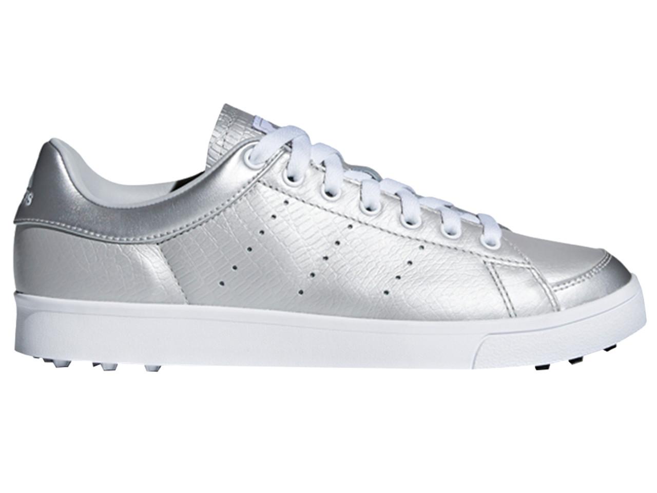 Pensar rizo lógica  Adidas W Adicross Classic Golf Shoes - Silver Met/FTWR White - Ladies    GolfBox