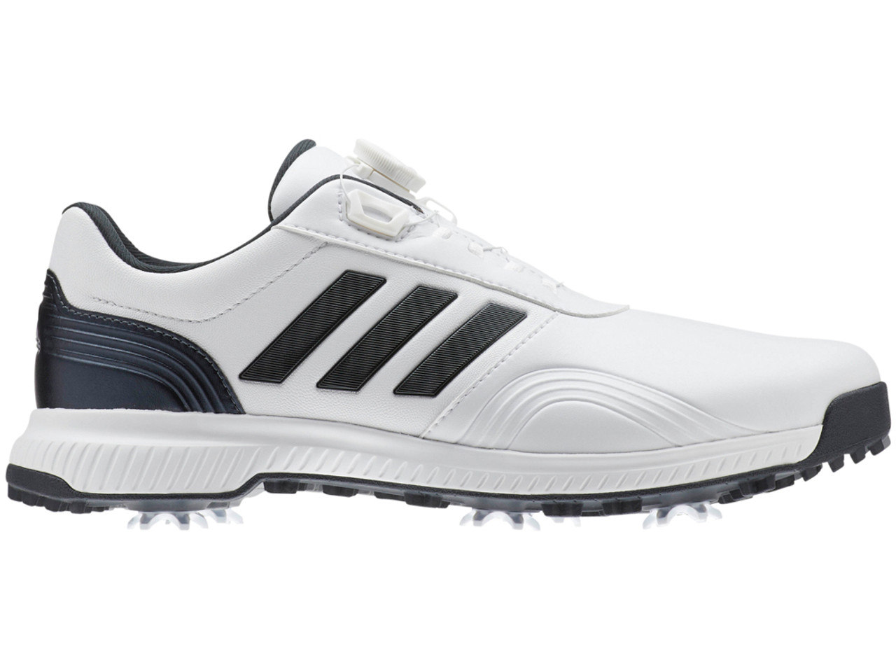 979d954916a Adidas CP Traxion BOA Golf Shoes - FTWR White Black Blue - Mens For ...