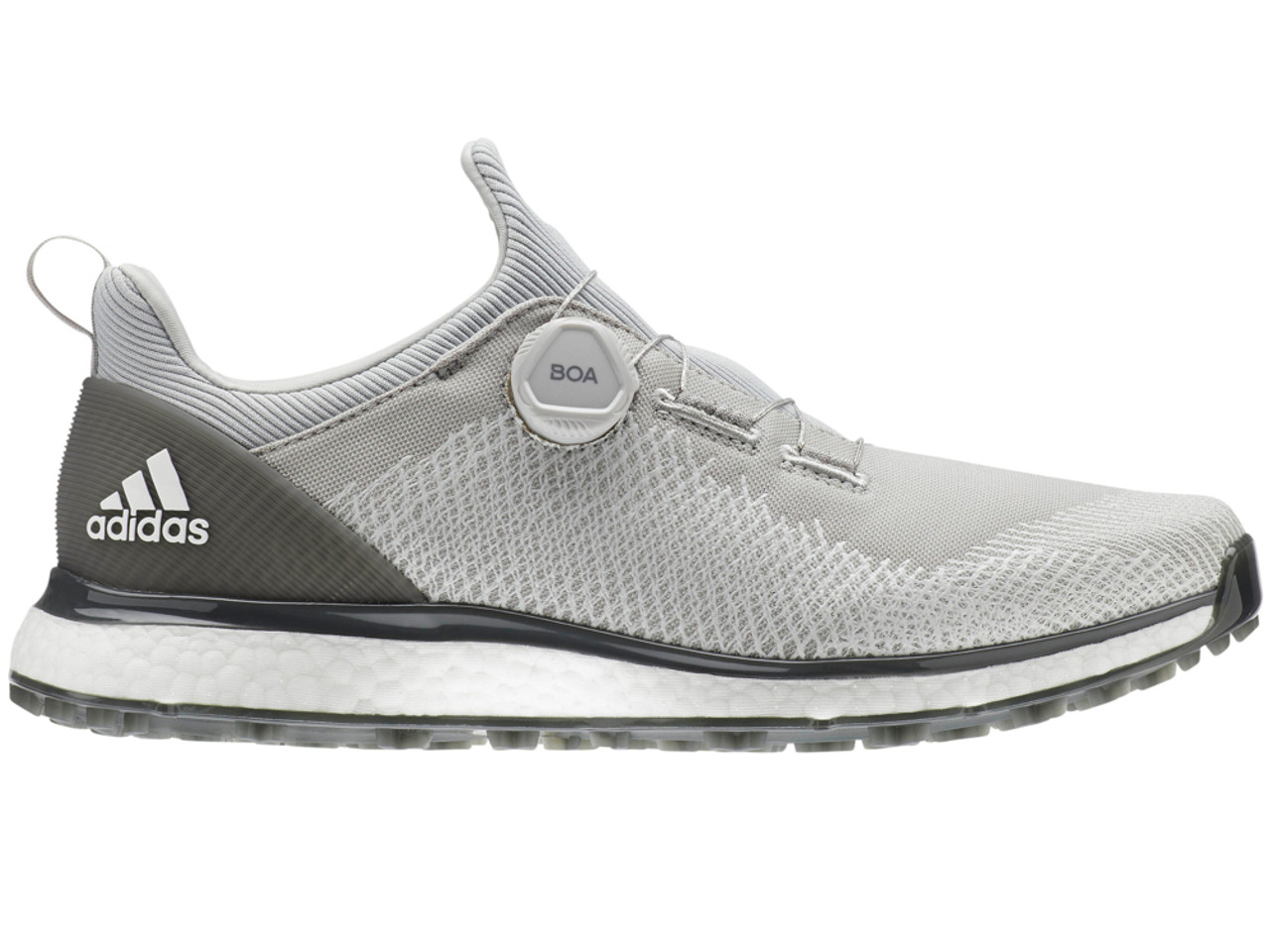 775d5052ff52 Adidas Forgefiber BOA Golf Shoes - Grey Two FTWR White - Mens For ...