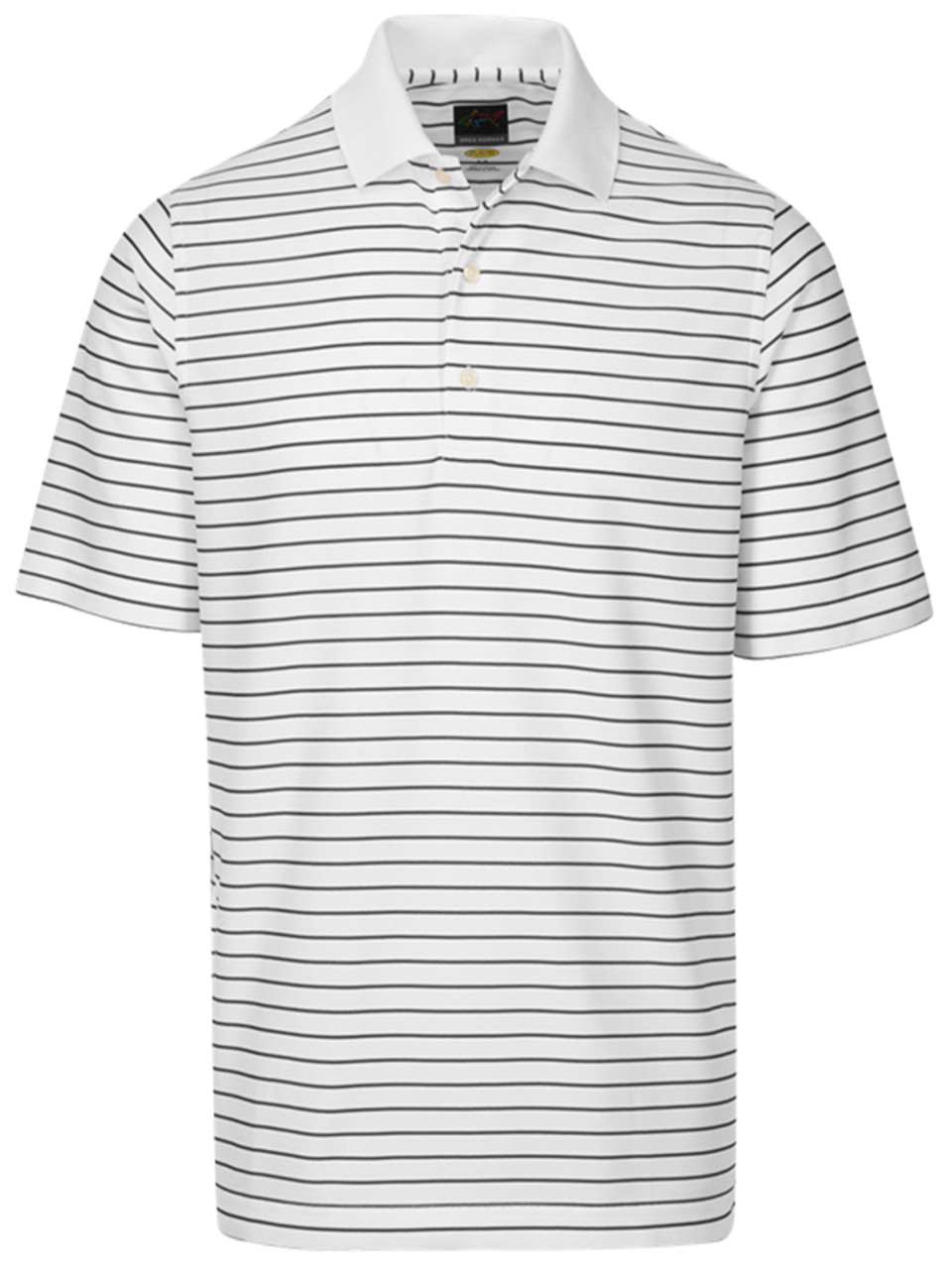Greg Norman Mens Protek Micro Pique Stripe Polo