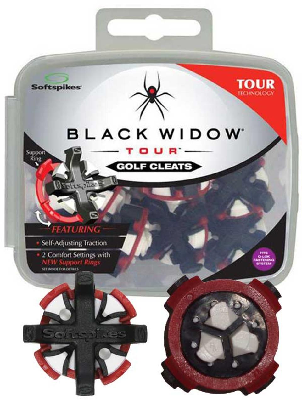 SoftSpikes Black Widow Tour Golf Cleats